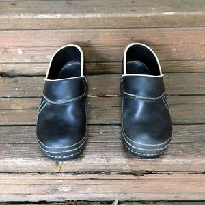 SANITA Black Clogs EUR 41 Leather Medical